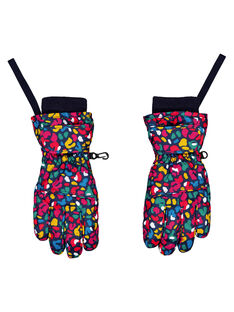 Muffole/guanti con motivo multicolore. GYASKIGANT / 19WI01W1GAN070