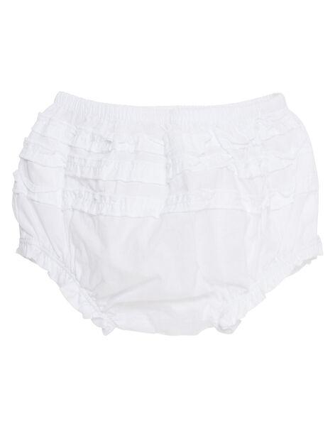 Bloomer bianco neonata JIJOBLOO1 / 20SG09T1BLR000