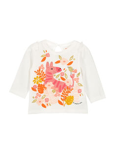 T-shirt maniche lunghe neonata FIBATEE / 19SG0961TML001