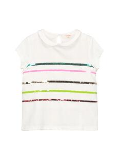 T-shirt colletto Peter Pan bambina FACABRAS / 19S901D1BRA000