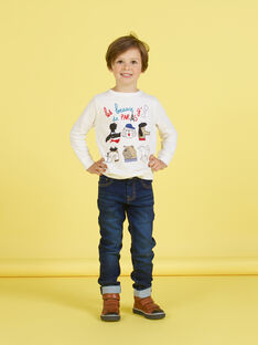 T-shirt bianca bambino MOMIXTEE2 / 21W902J3TML810