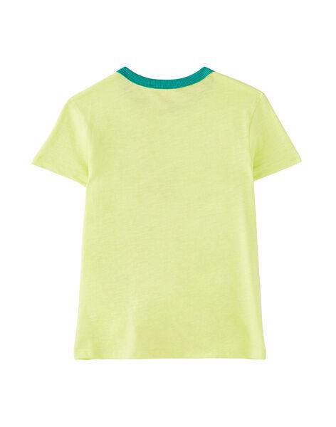 T-shirt bambino maniche corte gialla cactus JOMARTI5 / 20S902P5TMC103