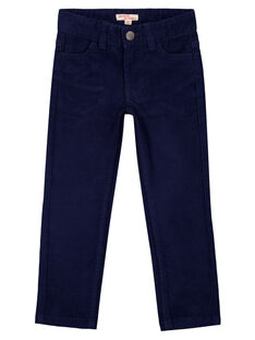 Pantaloni in velluto Navy Regular GOJOPAVEL1 / 19W90232D2B070