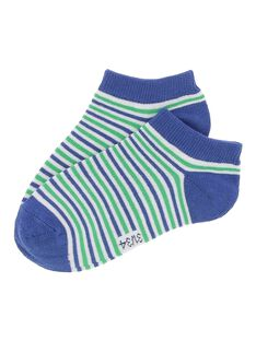 Boys' striped ankle socks CYOJOCHO11A / 18SI02S9SOQ201