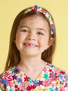 Cerchietto con stampa a fiori bambina MYAJOSERR2 / 21WI01S1TET009