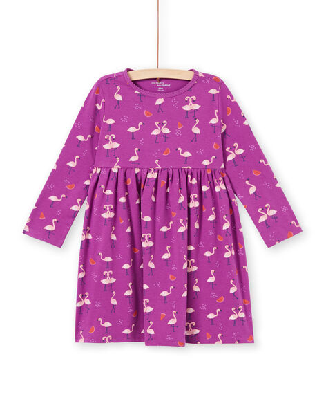 Camicia da notte viola fenicotteri rosa e cocomeri bambina MEFACHUFLA / 21WH1131CHN712