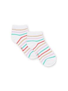 Calze a righe multicolore bambina LYAVISOCK / 21SI01U1SOQ000