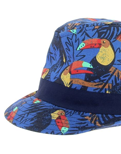 Boys' hat in a fancy print CYOGAUCHA / 18SI02L1CHAC209