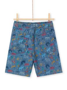 Bermuda in jeans blu scuro bambino LOVIBER3 / 21S902U3BER721