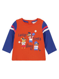 T-Shirt Maniche Lunghe Arancione GUSANTEE1 / 19WG10C3TML406
