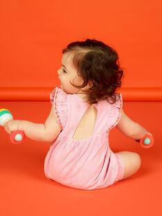 Pagliaccetto a righe e ricami neonata LIVIBAR / 21SG09U1BAR320