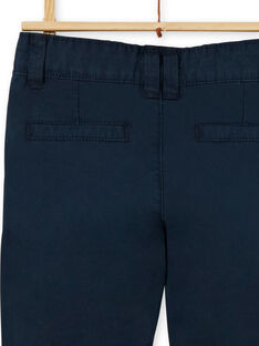 Pantaloni chino navy in cotone bambino LOJOPACHI2 / 21S90235PAN705