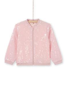 Giubbotto rosa con paillettes LAJAUCAR2 / 21S901O1CAR307