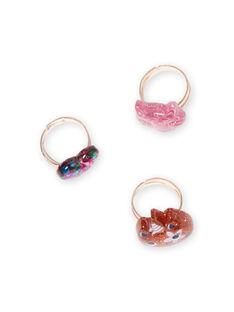 Set 3 anelli assortiti glitterati bambina MYAJORING1 / 21WI01S2BAG953