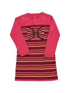 Girls' sweater dress DAPINROB3 / 18W901P3ROB099