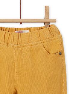 Pantaloni gialli in velluto a costine neonato MUJOPAN2 / 21WG1013PAN117