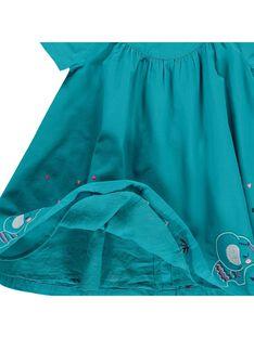 Baby girls' short-sleeved dress CIDOUROB1 / 18SG09J1ROB202