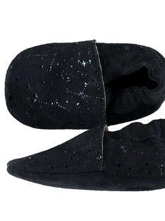 Babbucce pelle morbida fantasia stelle neonata navy GNFSTAR / 19WK37Z1D3S070