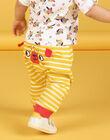 Pantaloni gialli e bianchi a righe in cotone neonato LUNOPAN2 / 21SG10L2PAN106