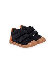 Sneakers navy con strappo neonato MUBASBOUT / 21XK3881D3F070