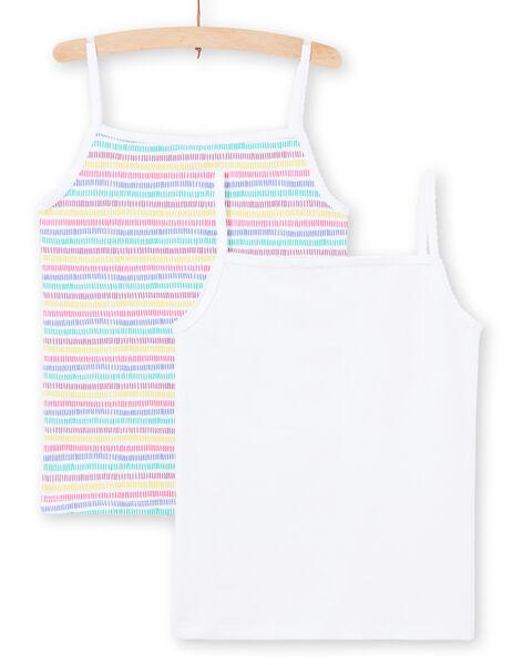 Set 2 canottiere bianco e multicolore assortite bambina MEFADELIC / 21WH11B1HLI000