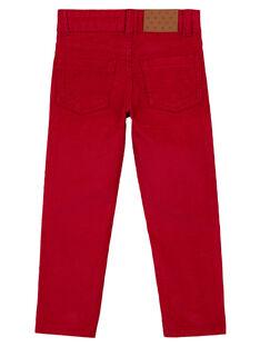 Pantaloni in Velluto Rossi Regular GOJOPAVEL4 / 19W90233D2BF508