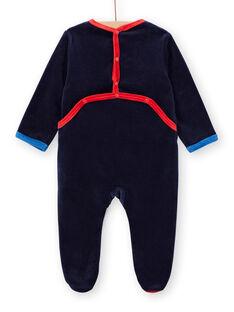 Tutina corredo bambino in velluto navy motivi spazio LEGAGRESPA / 21SH1452GRE713