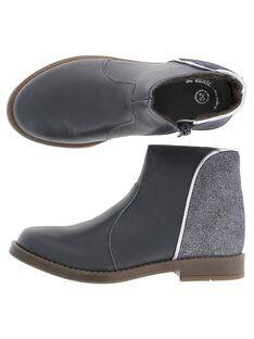 Girls' leather boots DFBOOTMIX1 / 18WK35T5D0D070