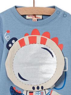 T-shirt blu orizzonte stampa drago astronauta neonato MUPLATEE1 / 21WG10O2TML216